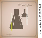 laboratory glass   Shutterstock .eps vector #395305141