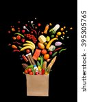 deluxe food in package. studio... | Shutterstock . vector #395305765