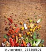 healthy eating concept. studio... | Shutterstock . vector #395305801