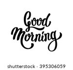 good morning lettering text | Shutterstock .eps vector #395306059