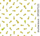 seamless pear pattern. chaotic... | Shutterstock .eps vector #395307121