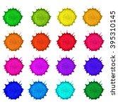 palette of watercolor paints ...   Shutterstock .eps vector #395310145
