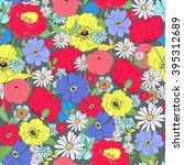seamless floral  background.... | Shutterstock .eps vector #395312689