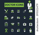 doctor icons  | Shutterstock .eps vector #395321479