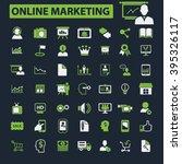 online marketing icons  | Shutterstock .eps vector #395326117