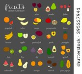 hand drawn fruits isolated on... | Shutterstock .eps vector #395327941