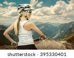 Beautiful Woman In Helmet And...