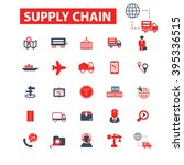 supply chain icons  | Shutterstock .eps vector #395336515