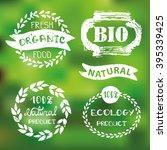 natural bio eco logotype...   Shutterstock .eps vector #395339425