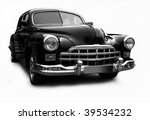 black a retro the car on a... | Shutterstock . vector #39534232