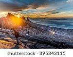 mount kinabalu  near low's peak ... | Shutterstock . vector #395343115