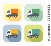 delivery truck icon  vector... | Shutterstock .eps vector #395344891