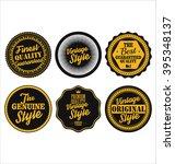 premium quality retro badges... | Shutterstock .eps vector #395348137