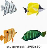 A colorful  of exotic small fishes