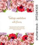 vintage delicate invitation... | Shutterstock .eps vector #395369305