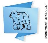 polar bear doodle | Shutterstock . vector #395373937