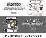 flat designed banners for... | Shutterstock .eps vector #395377165