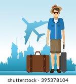 travel icon design  | Shutterstock .eps vector #395378104