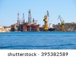 the noble paul romano oil rig... | Shutterstock . vector #395382589