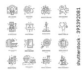 symbols of medical technology... | Shutterstock .eps vector #395392081