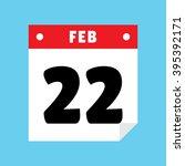 calendar icon flat february 22