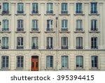 vintage building facade.  | Shutterstock . vector #395394415