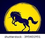 unicorn silhouette designed on...   Shutterstock .eps vector #395401951
