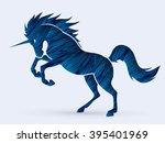 unicorn silhouette designed...   Shutterstock .eps vector #395401969