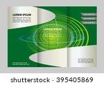business tri fold brochure ... | Shutterstock .eps vector #395405869