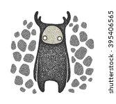 fantastic horned beast | Shutterstock . vector #395406565