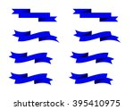 blue ribbons | Shutterstock .eps vector #395410975