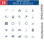 25 universal icons for web and... | Shutterstock .eps vector #395419909