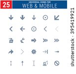 25 universal icons for web and... | Shutterstock .eps vector #395419921