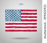Hand Drawn United States Of...