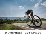 men cycling road bike in the... | Shutterstock . vector #395424199
