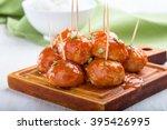 Chicken Meatballs On Skewers...