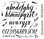vector watercolor alphabet with ... | Shutterstock .eps vector #395428345