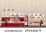 Fast Food Restaurant Interior...