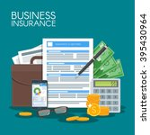 business insurance concept... | Shutterstock .eps vector #395430964