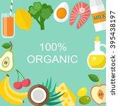 healthy food vector template....   Shutterstock .eps vector #395438197