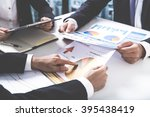 business people discussing the... | Shutterstock . vector #395438419