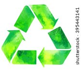 Watercolor Green Recycle Sign ...