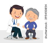 male doctor examining patient....   Shutterstock .eps vector #395450854