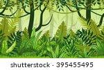 seamless nature jungle cartoon... | Shutterstock .eps vector #395455495