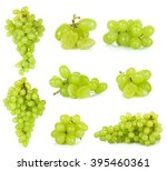 Green Grape Isolated On A Whit...