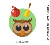 education flat icon set for... | Shutterstock .eps vector #395460859