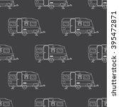 camping trailer outline... | Shutterstock .eps vector #395472871