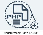 flat vector illustration. php... | Shutterstock .eps vector #395473381