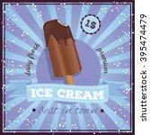 vintage ice cream poster design.... | Shutterstock .eps vector #395474479