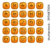 cartoon orange square buttons...